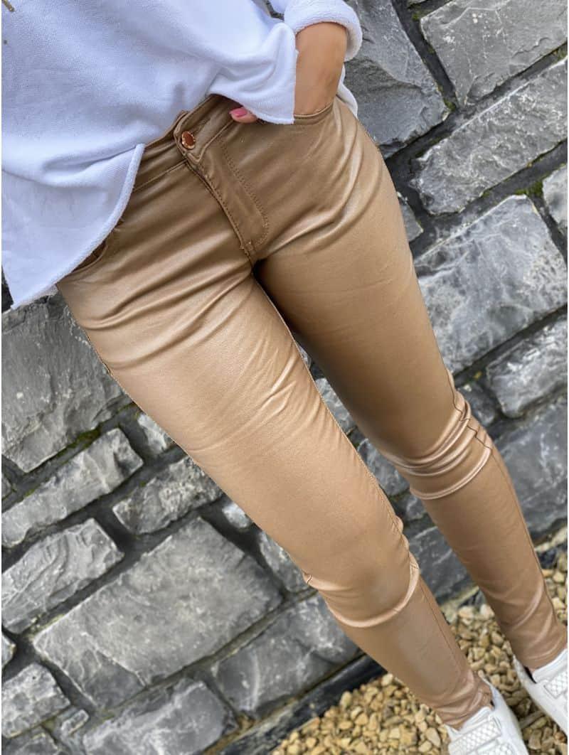 Pantalon huilé à paillettes