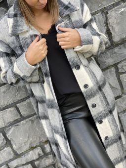 Manteau laine carreaux TU