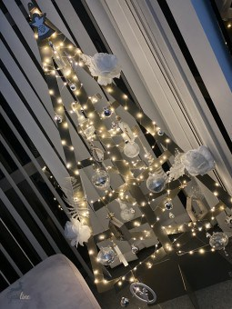 Sapin de Noël métallique