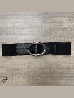 Ceintures -Ceinture élastique boucle ovale