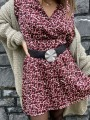 Robe imprimée léopard