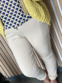 Pantalon élastique uni Sophie