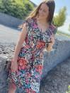 Vêtements femme -Robe courte fleurie Malika