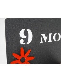 """Pêle-mêles -Pêle-mêle """"9 mois pour te créer, l'éternité pour t'aimer"""" fleurs"""