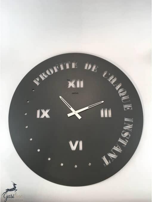 "Horloges -Horloge ronde diamètre 90 cm  ""Profite de chaque instant"""