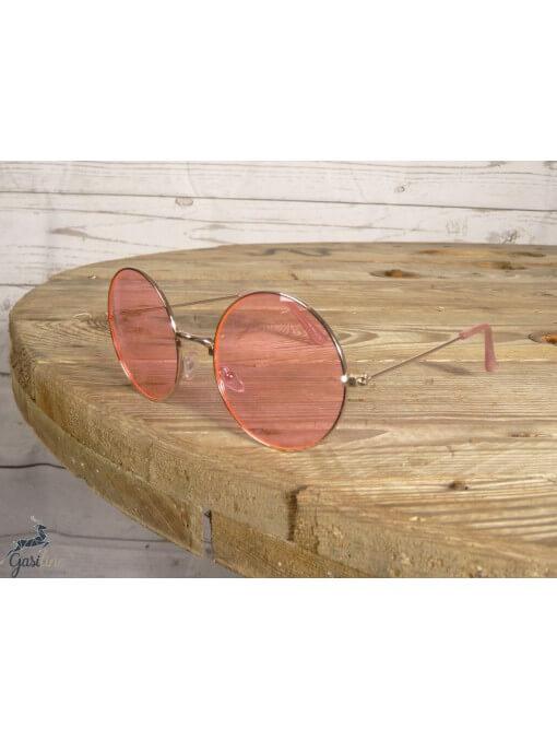Lunettes solaires -Lunettes rondes rose