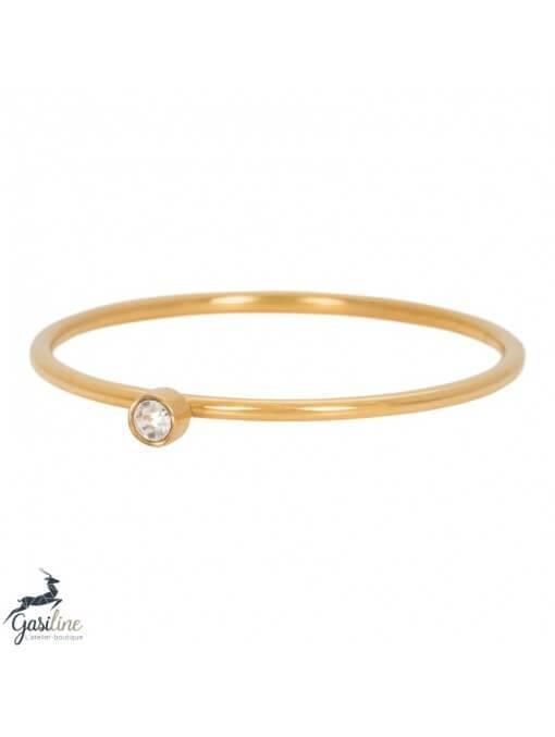 Fill rings -Bague 1 mm Zirconia 1 pierre Crystal