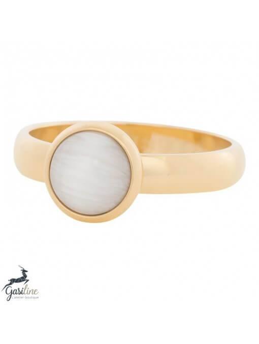 Fill rings -Pierre Oeuil de Chat Blanche 10mm