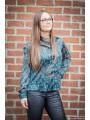 Chemises, Blouses & Tuniques -Chemisier vert imprimé fleuri