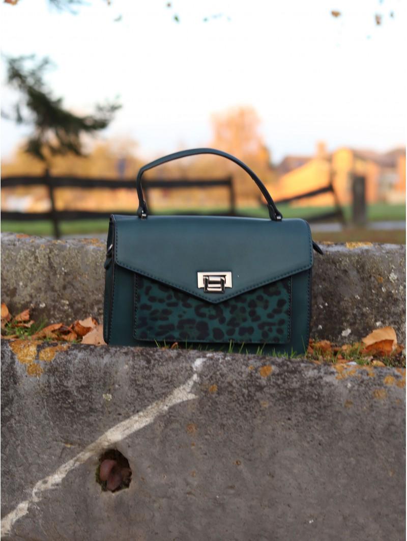 Sacs & Pochettes -Sac décor léopard vert sapin