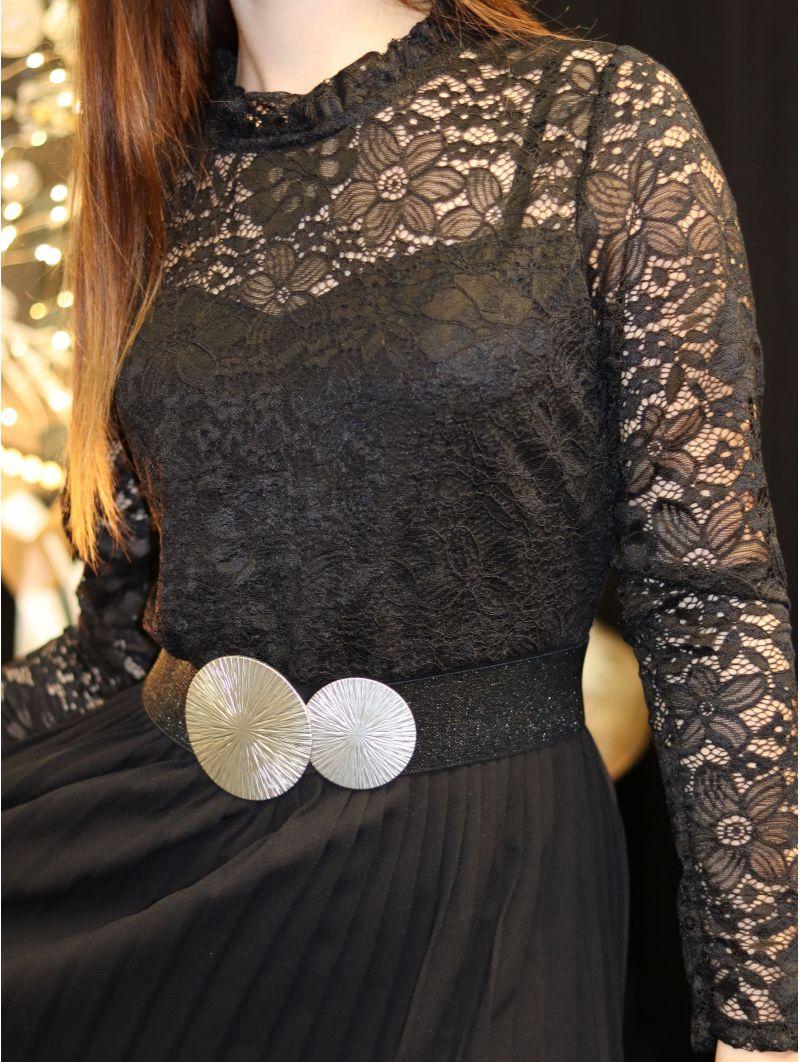 1+2 gratuits -Robe dentelle noire