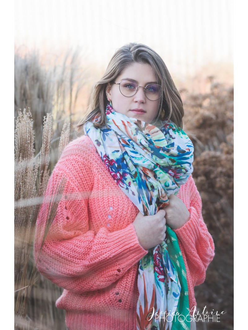 Pulls & Gilets -Pull col rond pastel grosse maille
