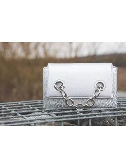 Sacs & Pochettes -Sac argenté chainette
