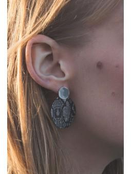Boucles d'oreilles -BO disques pleins imprimé