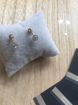 Boucles d'oreilles -BO barette brillant