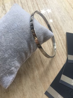 """Bracelets -""""Pile tu es à moi, face je suis à toi"""" Bracelet métal texte"""