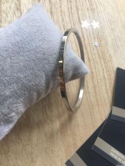 """Bracelets -""""Soeur de coeur"""" Bracelet métal texte"""