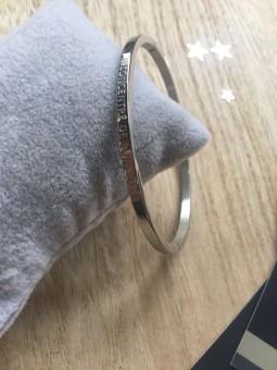 """Bracelets -""""Concentré de bonheur"""" Bracelet métal texte"""