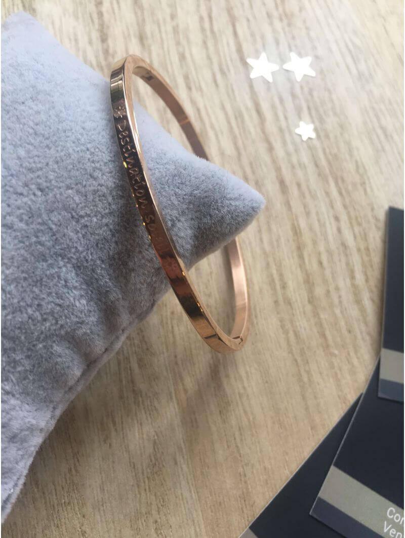 """Bracelets -""""Destination soleil"""" Bracelet métal texte"""