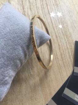 """Bracelets -""""Princesse en baskets"""" Bracelet métal texte"""