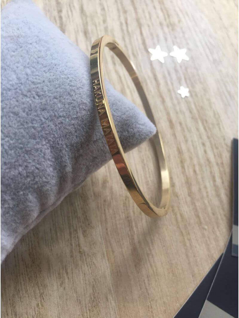 """Bracelets -""""Hakuna matata"""" Bracelet métal texte"""