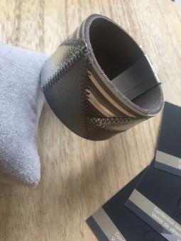 Bracelets -Manchette patchwork grise