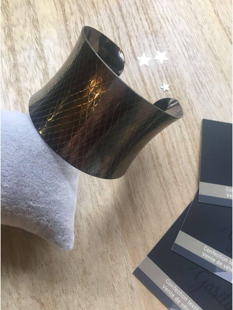 Bracelets -Manchette argentée