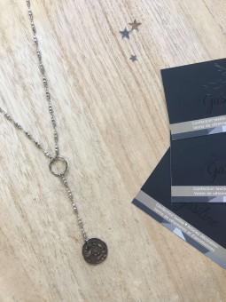 Colliers -Collier pendentif martelé