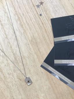 Colliers -Collier chainette pendentif nacre blanche
