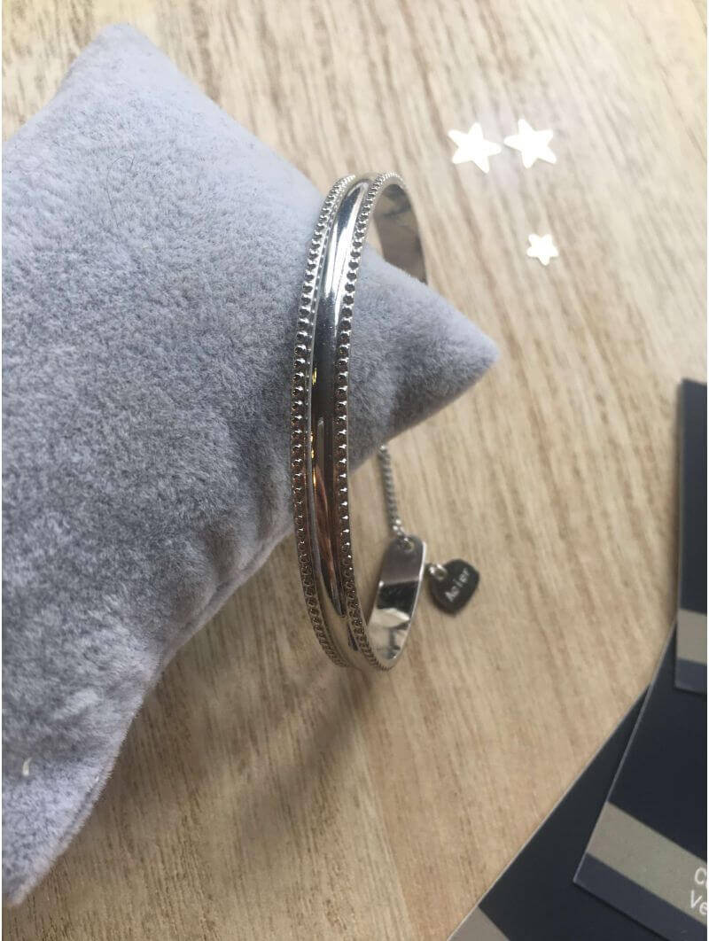 Bracelets -Bracelet métal lisse et martelé