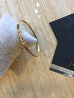 """Bracelets -""""Marraine en or"""" Bracelet métal texte"""