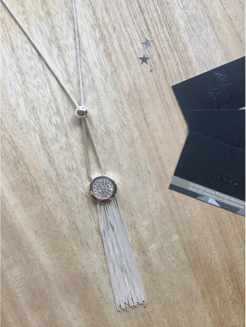 Colliers -Sautoir pendentif chainettes