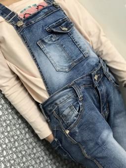 Vêtements enfants -Salopette en jeans enfant 4a-14a
