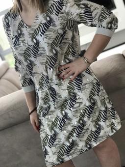 Robes -Robe imprimée feuillages ceinture lacet