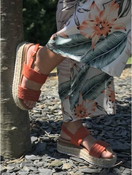 Chaussures -Sandales plateforme daim