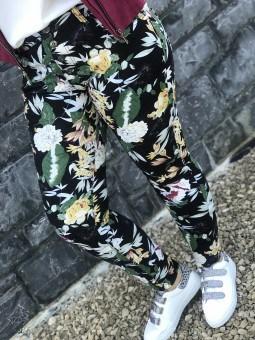 Pantalons & Jeans -Pantalon Place du Jour feuillage vert