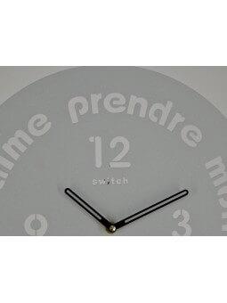"Horloges -Horloge ronde diamètre 30 cm ""J'aime prendre mon temps"""